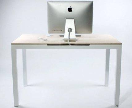 Tambour Table โต๊ะทำงานที่ซ่อนสายไฟและเก็บของได้อย่างชาญฉลาด 17 - table