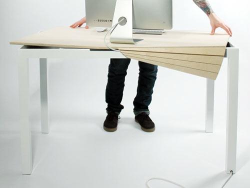 Tambour Table โต๊ะทำงานที่ซ่อนสายไฟและเก็บของได้อย่างชาญฉลาด 13 - table