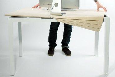 Tambour Table โต๊ะทำงานที่ซ่อนสายไฟและเก็บของได้อย่างชาญฉลาด 20 - table