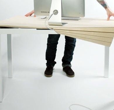 Tambour Table โต๊ะทำงานที่ซ่อนสายไฟและเก็บของได้อย่างชาญฉลาด 19 - table