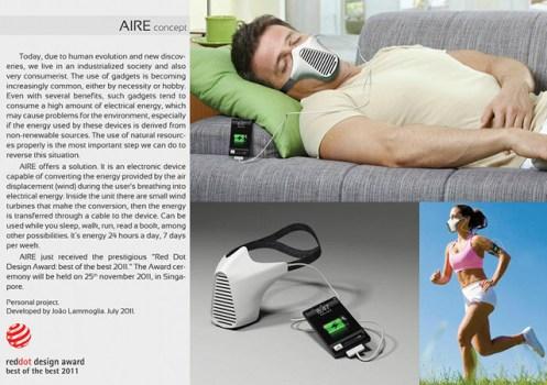 """ชาร์จไอโฟนด้วยลมหายใจ """"AIRE Mask"""" 6 -"""