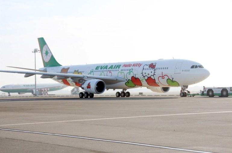 Hello kitty airplane for EVA air สายการบินนี้มีแต่คิตตี้ 14 -