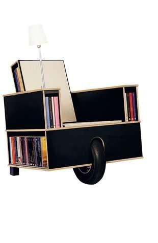 25550623 100125 เก้าอี้ที่เก็บหนังสือ ..แถมติดล้อเคลื่อนย้ายสะดวก