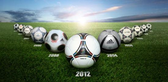 GT Euro cup ball history 550x269 แทงโก้ 12 ! ลูกฟุตบอลประจำศึกยูโรปี 2012