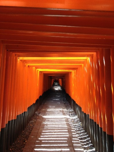 %name Trip to Fushimi Inari Shrine   One thousand red gates