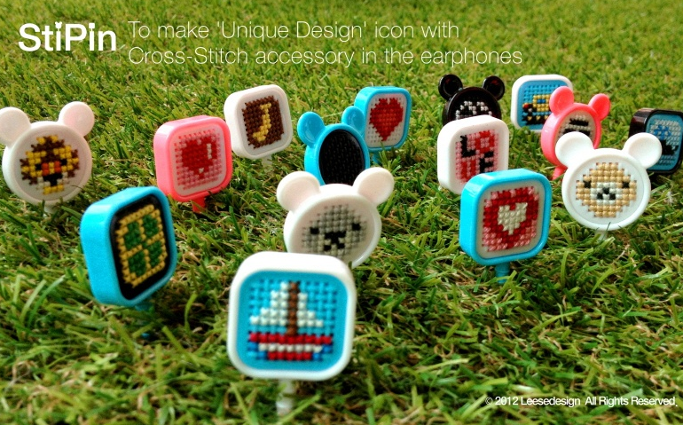 DIY.Phone plugy set 16 - Cross-stitch