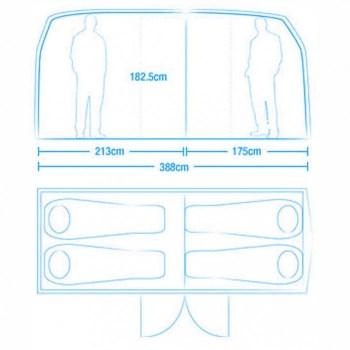 vw zelt 4 350x350 Volkswagen Van Tent เต๊นท์นี้นอนได้ถึง 4 คน!!