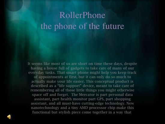 25550710 095023 Rollerphone..สมาร์ทโฟน บนสายรัดข้อมือ แบบหนัง Sci Fi เลย