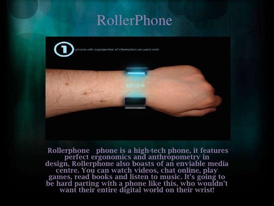 25550710 095030 Rollerphone..สมาร์ทโฟน บนสายรัดข้อมือ แบบหนัง Sci Fi เลย