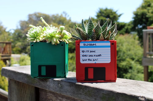 25550721 102924 DIY กระถางจากแผ่น floppy disk