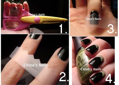 12 Amazing DIY Nail Art Designs Using Scotch Tape เล็บสวย12 วิธีด้วยสก็อตเทป 18 - Nail Art Designs