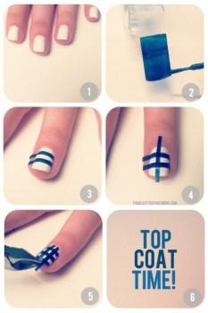 12 Amazing DIY Nail Art Designs Using Scotch Tape เล็บสวย12 วิธีด้วยสก็อตเทป 17 - Nail Art Designs