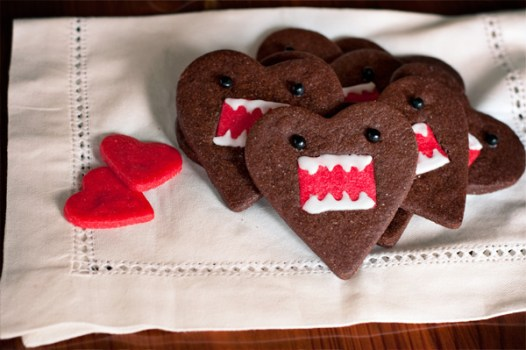 6839539873 9fd4c91135 z 526x350 คุกกี้โดโมะ น่ารักๆ chocolate domo kun heart cookies