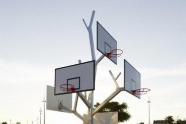 Basket tree in Nantes, France ห่วงบาสหลายระดับในหนึ่งเดียว 15 - France