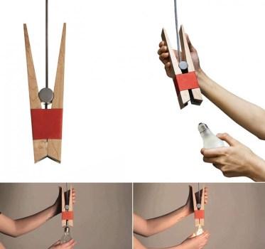 Clothespin Light Bulb ไม้หนีบหลอดไฟ 15 -