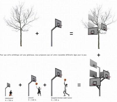 Basket tree in Nantes, France ห่วงบาสหลายระดับในหนึ่งเดียว 21 - basketball