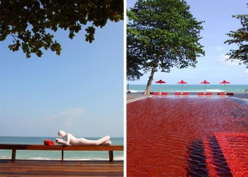 "THE LIBRARY ""เดอะ ไลบรารี่"" เกาะสมุย กับสระว่ายน้ำสีแดงแปลกตาที่เปิดโล่งให้เห็นวิวทะเล และผู้รักการอ่านหนังสือ 15 -"