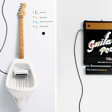 Make Your Own MPee 3 With a Guitar Urinal...โถปัสสาวะกีต้าร์ 15 - Guitar