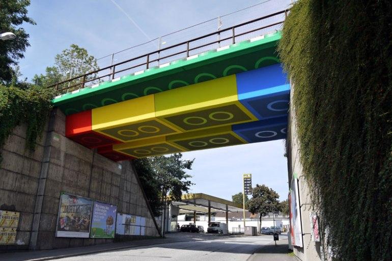 LEGO bridge in germany สะพานเลโก้ 17 - Painting