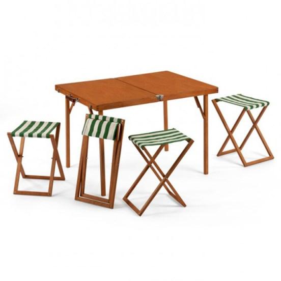 pic nick folding table gessato gselect 1 designrulz ชุดโต๊ะ เก้าอี้ To Go... พับเก็บเป็น กระเป๋าไม้สวยงาม