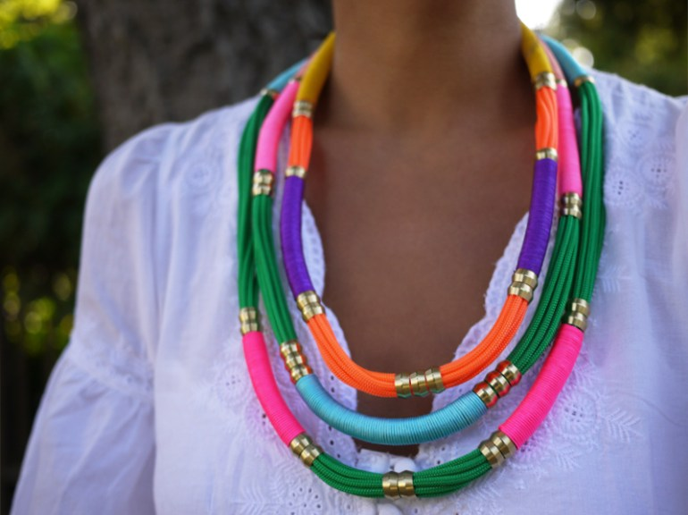 DIY.Rope Necklace ของขวัญให้คุณแม่ 13 - DIY