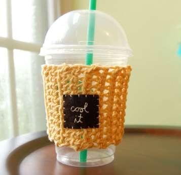 25550803 135502 เสื้อไหมพรมสำหรับแก้วกาแฟ