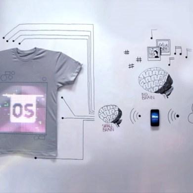 TshirtOS เสื้อยืดที่แสดงสถานะ หรือทวีต จากมือถือ ตัวแรกของโลก 16 - social media