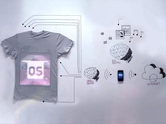 25550814 122514 TshirtOS เสื้อยืดที่แสดงสถานะ หรือทวีต จากมือถือ ตัวแรกของโลก