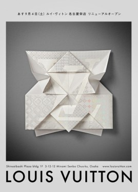 ADV LV Origami Osaka 269x375 Louis Vuitton – Invitation Origami