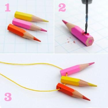 DIY.jewelry จากดินสอสีไม้ 16 - color