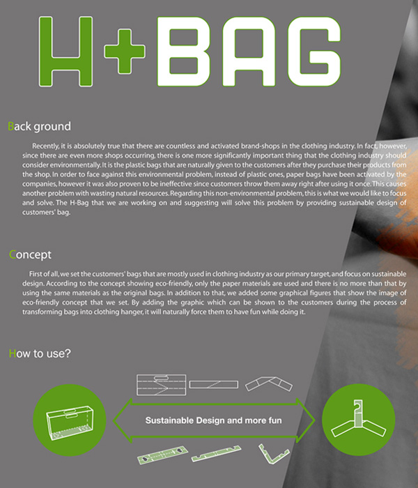 h bag H+BAG...ถุงและไม้แขวนในชิ้นเดียวกัน