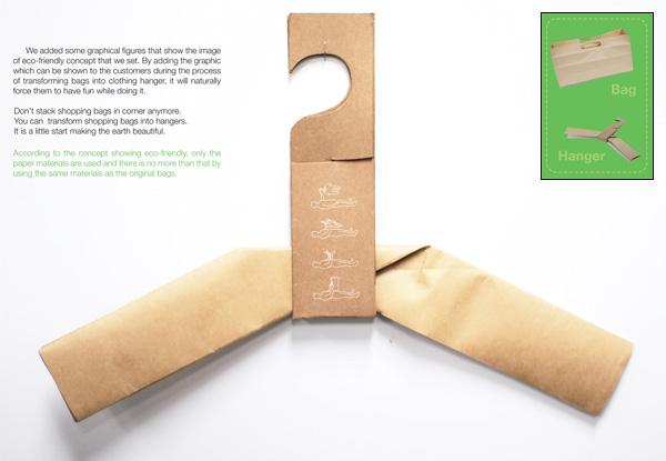 h bag2 H+BAG...ถุงและไม้แขวนในชิ้นเดียวกัน