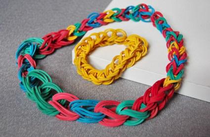 DIY.Rubber Band Chain Necklace&Bracelet 19 - bracelet