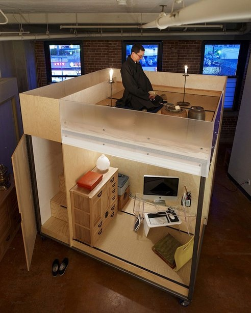 Mobile cube...ชุดพักอาศัยเคลื่อนที่ขนาดเล็กแนวคิดแบบเซ็น 13 -