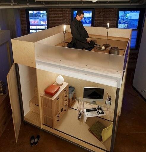 Mobile cube...ชุดพักอาศัยเคลื่อนที่ขนาดเล็กแนวคิดแบบเซ็น 17 - GREENERY
