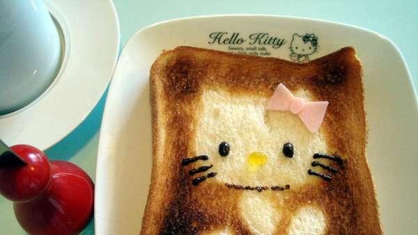 DIY สร้างสรรค์ภาพการ์ตูนบนขนมปัง..ง่ายๆจากฟลอยห่ออาหาร 13 - DIY