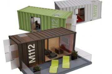 Model Container Homes ของเล่นมีดีไซน์ 2 - Model