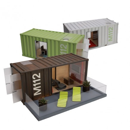 Model Container Homes ของเล่นมีดีไซน์ 13 - Containers