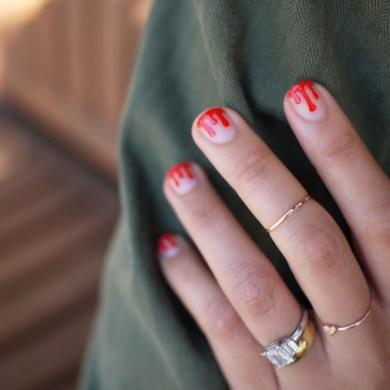 DIY.drippy nail ต้อนรับฮาโลวีน 25 - DIY