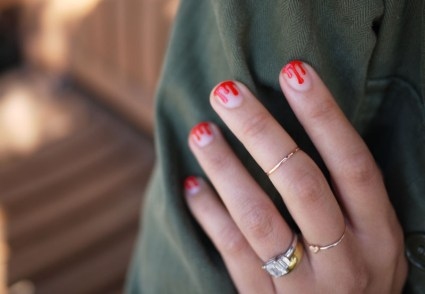 DIY.drippy nail ต้อนรับฮาโลวีน 20 - DIY