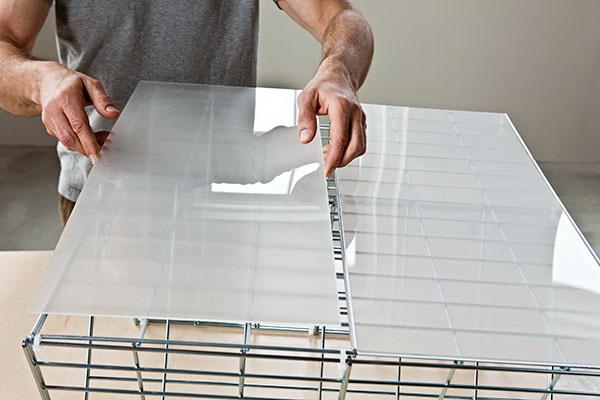 DIY coffee table จากแผงลวด 20 - minimalist