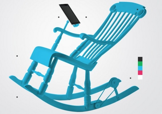 25551130 181146 IRock..เก้าอี้โยกสร้างพลังงานยั่งยืนชาร์ต iPhone, iPad
