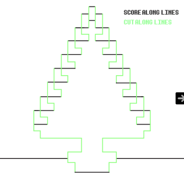 DIY.Christmas pixel popup cards 15 - christmas