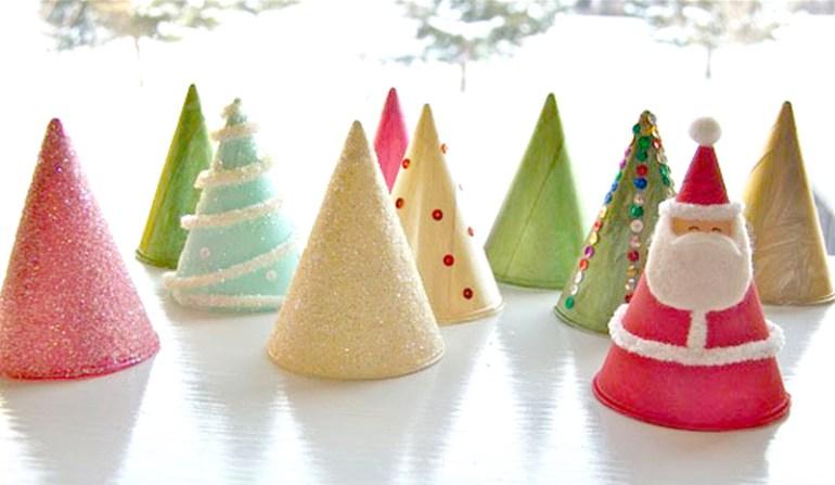 """DIY """"Christmas Tree"""" ต้นคริสต์มาส จากกรวยกระดาษใส่น้ำ 16 - christmas tree"""
