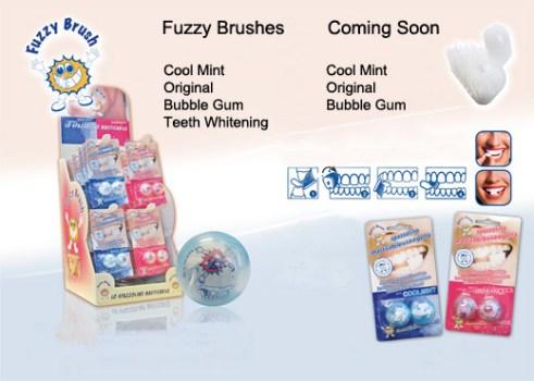 แปรงสีฟันเคี้ยวได้ (ไม่ต้องใช้น้ำ) Fuzzy Brushes  14 - Fuzzy Brushes