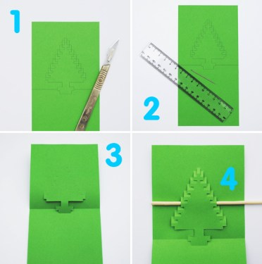 DIY.Christmas pixel popup cards 16 - christmas