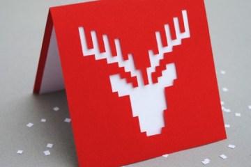DIY.reindeer card 10 - card