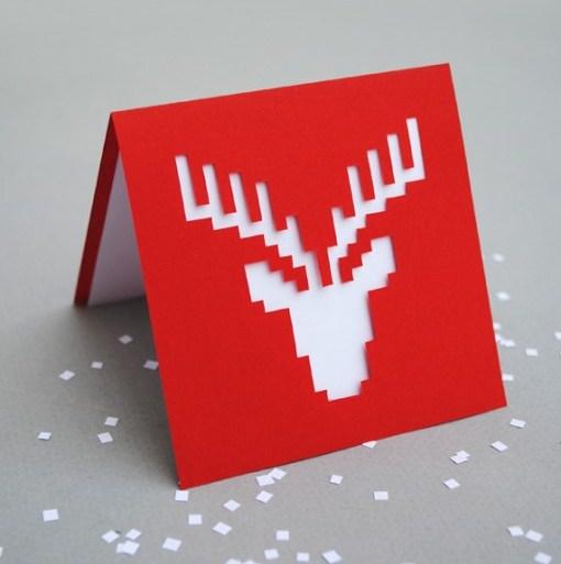 DIY.reindeer card 21 - card