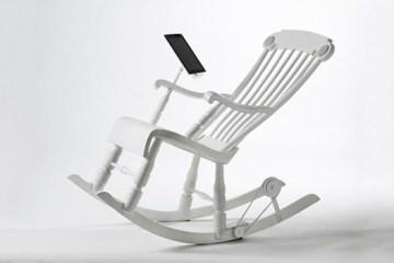 IRock..เก้าอี้โยกสร้างพลังงานยั่งยืนชาร์ต iPhone, iPad 11 - iRock