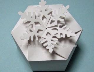 DIY และเทมเพลท กล่องของขวัญ snowflake 21 - ACTIVITY